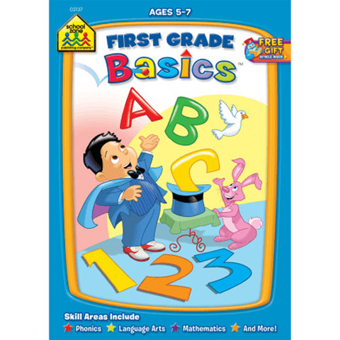 SCHOOL ZONE - First Grade Basics Workbook