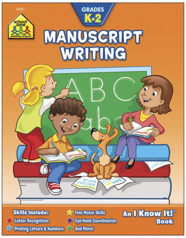 SCHOOL ZONE - Manuscript Writing Curriculum Workbooks