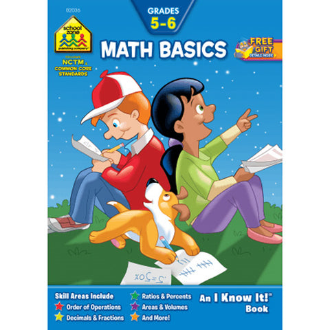 SCHOOL ZONE - Math Basics 5-6 Workbook