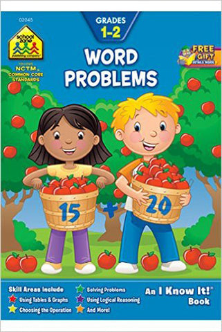 SCHOOL ZONE - Word Problems 1-2 Workbook