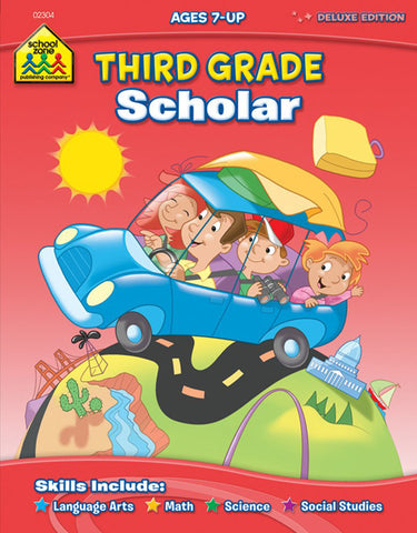 SCHOOL ZONE - Third Grade Scholar Workbook
