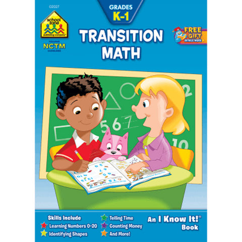 SCHOOL ZONE - Transition Math Grades K-1 Workbook