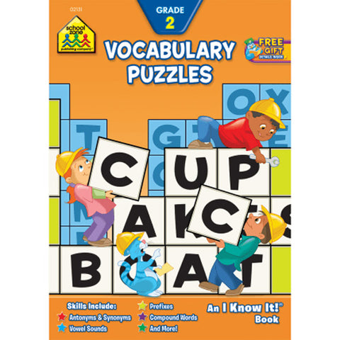SCHOOL ZONE - Vocabulary Puzzles 2 Workbook