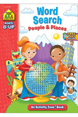 SCHOOL ZONE - Word Search People & Places Activity Zone Workbook