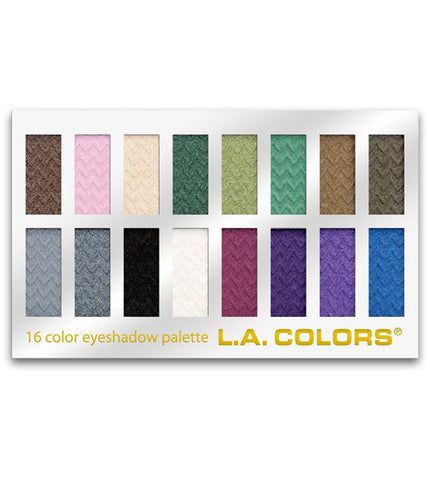 L.A. COLORS - 16 Color Eyeshadow Palette Smokin'