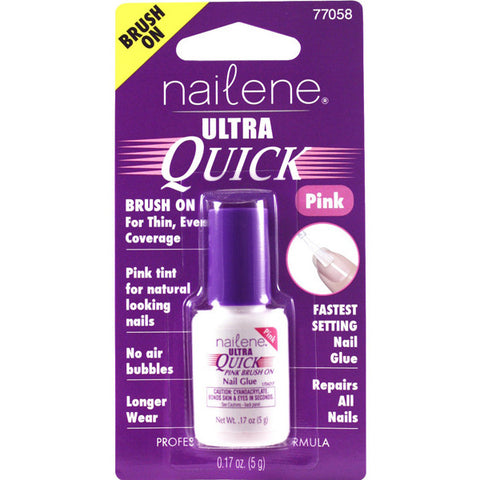 NAILENE - Ultra Quick Pink Brush On Nail Glue