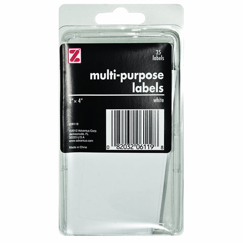 "ADVANTUS - Self Adhesive Multi-Purpose Labels 2"" x 4"" White"