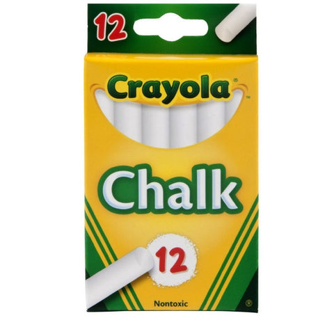 CRAYOLA - White Chalk for Blackboards and Paper