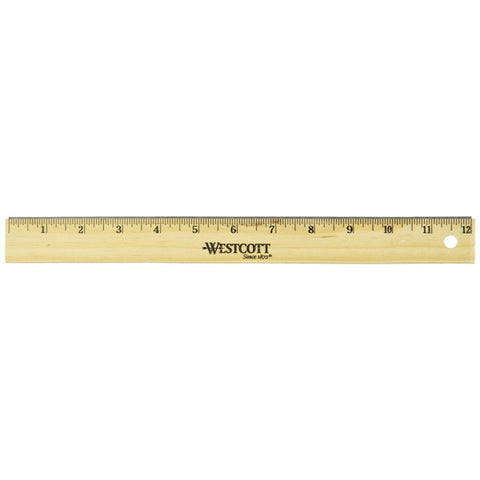 ACME - Westcott Wood School Ruler Scaled in 1/16 Inch