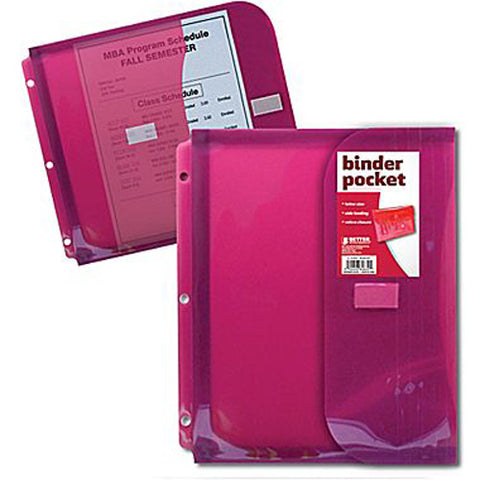 BETTER OFFICE - Non Stick Poly Binder Pocket with Gusset