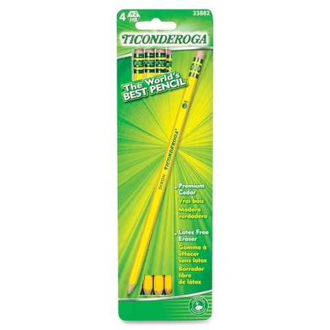 DIXON - Ticonderoga No. 2 Soft Pencils Yellow