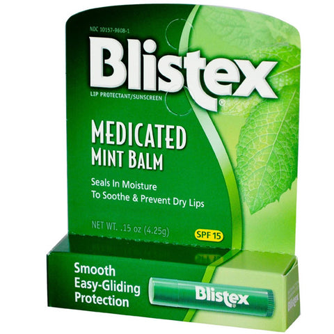 BLISTEX - Medicated Mint Lip Balm 15 SPF