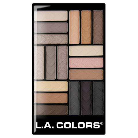LA Colors - 18 Color Eyeshadow Palette Downtown Brown