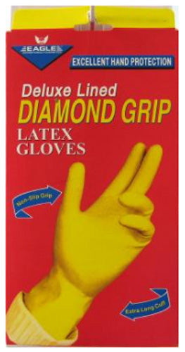 EAGLE - Diamond Grip Long Cuff Gloves Medium