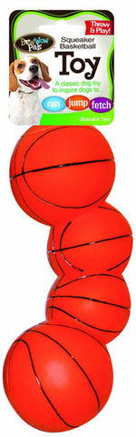 BOW WOW - Basketball Vinyl Squeaky Dog Toy