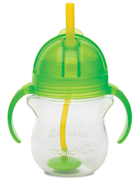 MUNCHKIN - Click Lock Weighted Flexi-Straw Cup Green