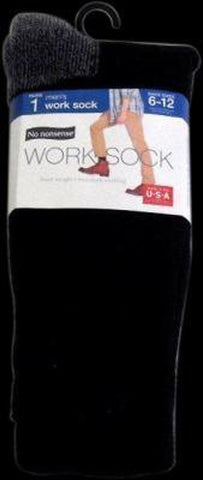 NO NONSENSE - Men's Heavy Duty Work Sock Black