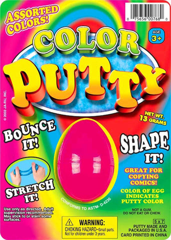 "JA-RU - Hot Color Silly Putty 5""x7"""