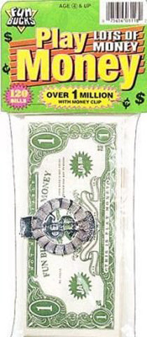 "JA-RU - Fun Bucks Play Money 4""x9"""