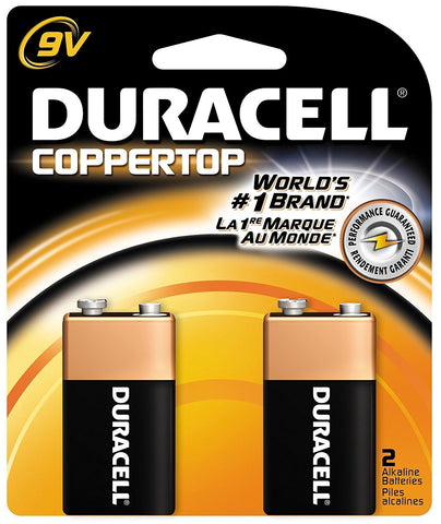DURACELL - CopperTop 9V Alkaline Batteries