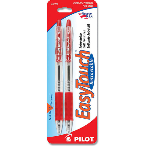 EASY TOUCH - Retractable Ball Point Pens Medium Point Red Ink