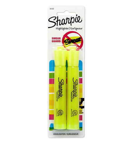 SHARPIE - Accent Tank-Style Highlighters Fluorescent Yellow