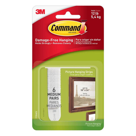 COMMAND - Medium Picture Hanging Strips, White