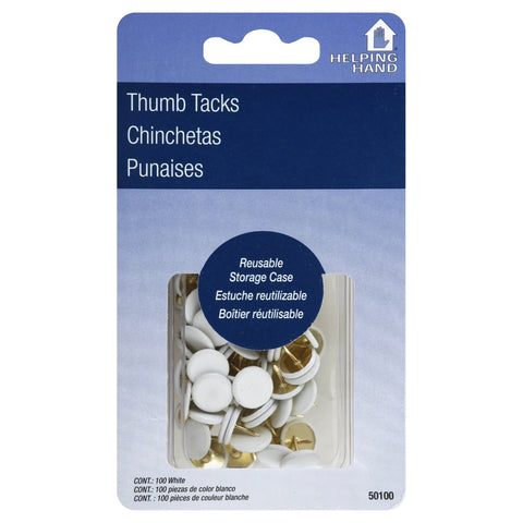 HELPING HAND - Thumb Tacks White