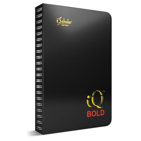 iSCHOLAR - iQ BOLD Hardbound Journal, Bright Colors, 8 x5 Inches