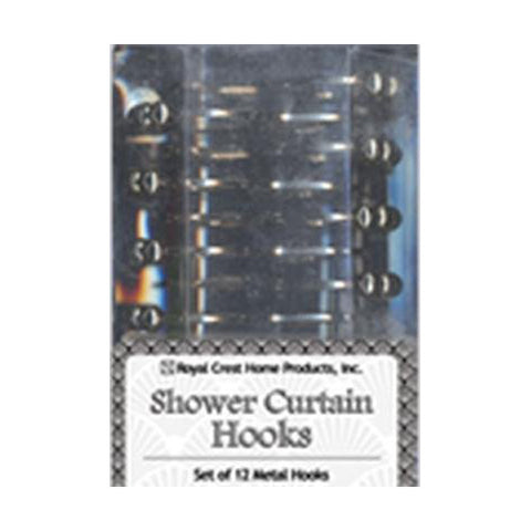 ROYAL CREST - Metal Shower Curtain Rings Hooks