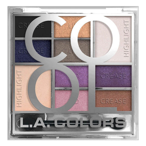L.A. COLORS - Electroplated 10 Color Eyeshadow, Cool
