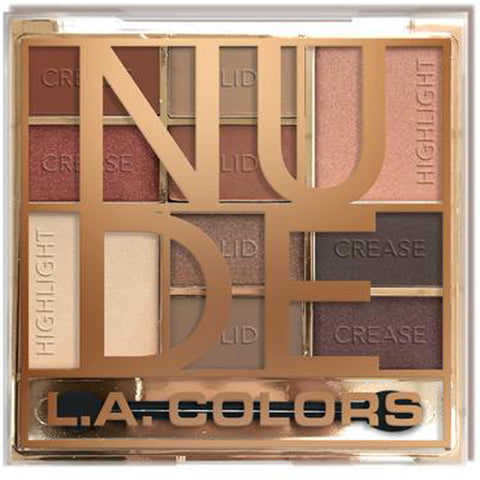 L.A. COLORS - Electroplated 10 Color Eyeshadow, Nude