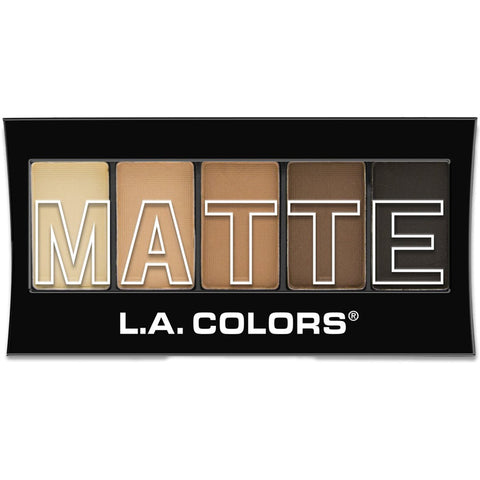 L.A. COLORS - 5 Color Matte Eyeshadow, Brown Tweed
