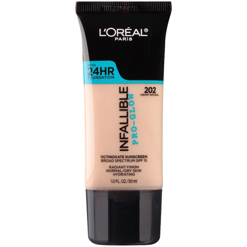 L'OREAL - Infallible Pro-Glow Foundation, Creamy Natural