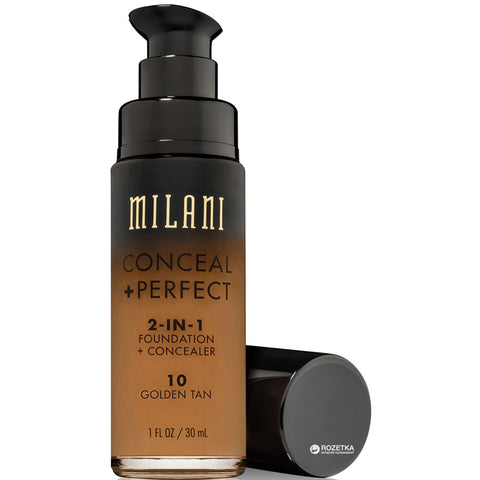 MILANI - Conceal + Perfect 2-in-1 Foundation Concealer, Golden Tan