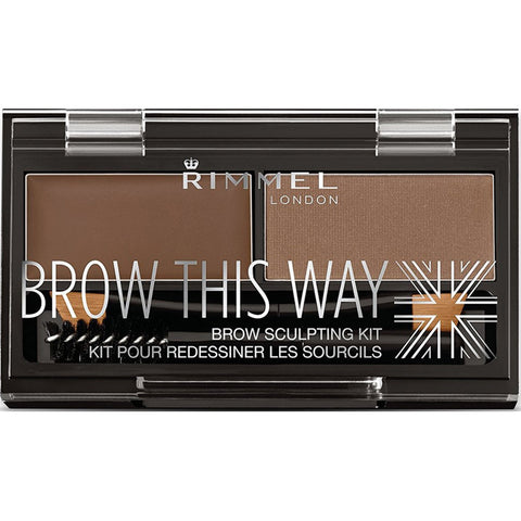 RIMMEL - Brow This Way Eyebrow Sculpting Kit, Medium Brown