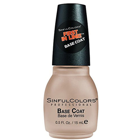 SINFULCOLORS - First In Line Base Coat Nail Treatment