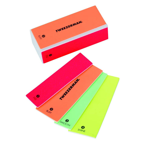 TWEEZERMAN - Neon Hot 4-in-1 File, Buff, Smooth & Shine Block