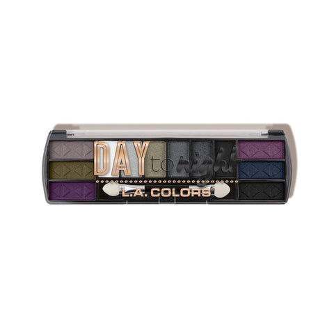 LA COLORS Day To Night 12 Color Eyeshadow Nightfall