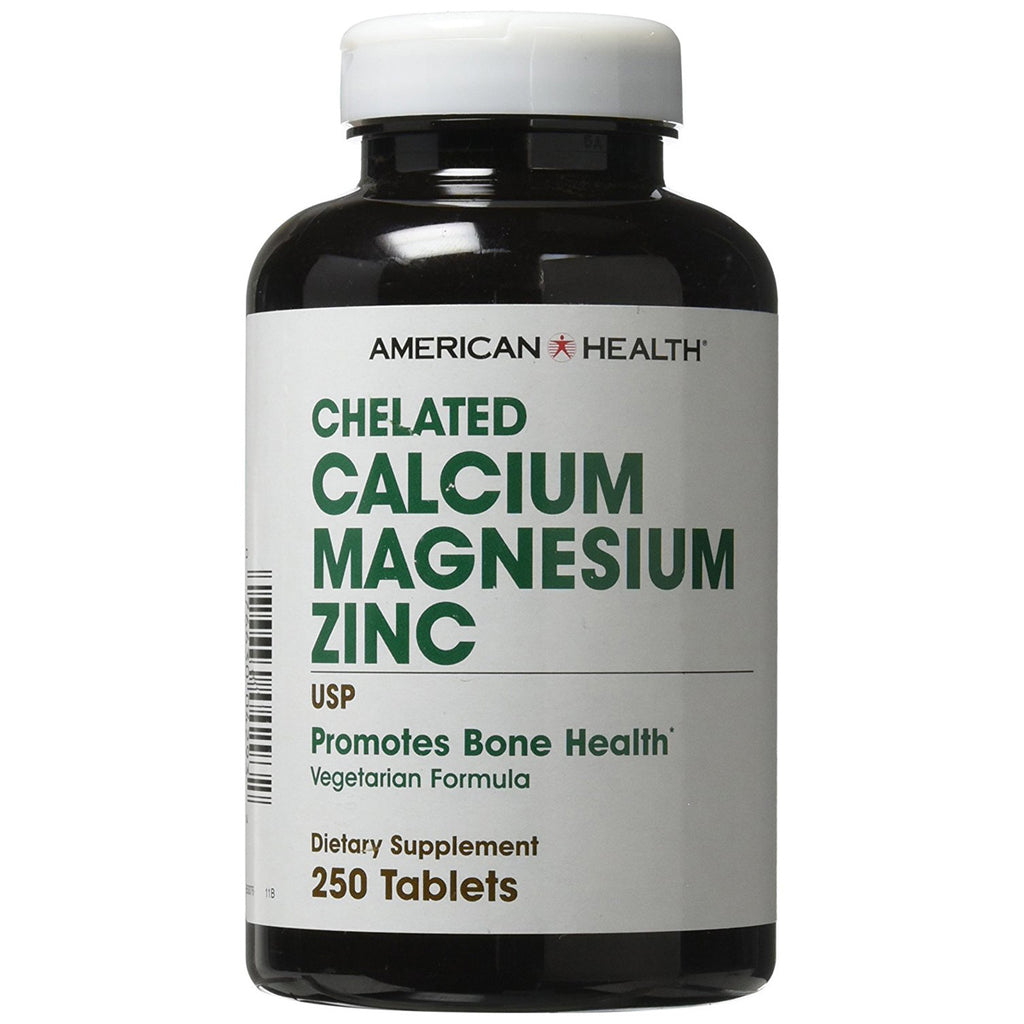 American Health Chelated Calcium and Magnesium with Zinc