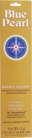 BLUE PEARL - Incense Premium Golden Champa - 0.35 oz. (10 g)