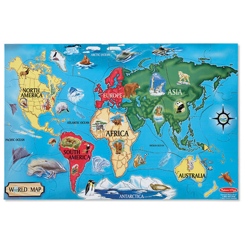 Melissa & Doug - World Map Floor Puzzle