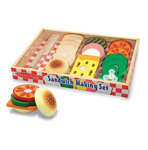 Melissa & Doug - Sandwich Making Set - Wooden Play Food