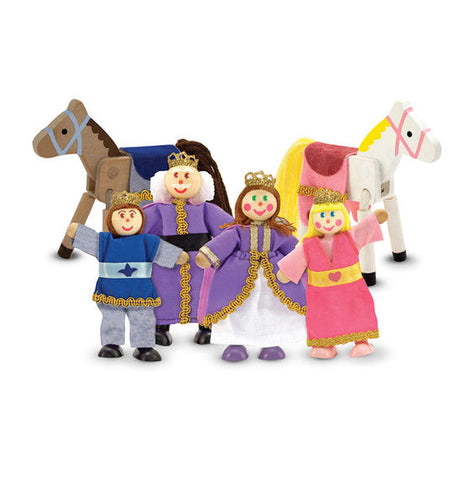 Melissa & Doug - Wooden Family Doll Set