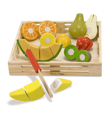 Melissa & Doug - Cutting Fruit Set - Wooden Play Food