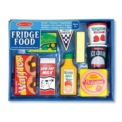 Melissa & Doug - Fridge Food Set - Wooden Play Food