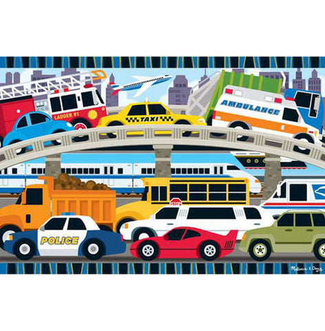 Melissa & Doug - Traffic Jam Floor Puzzle