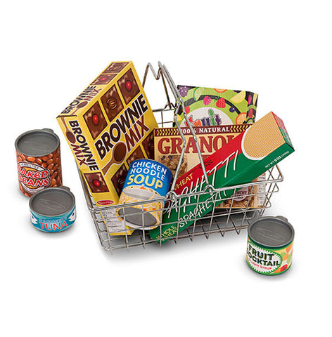 Melissa & Doug - Let's Play House! Grocery Basket with Play Food