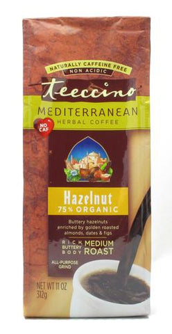 Teeccino Hazelnut Mediterranean Herbal Coffee