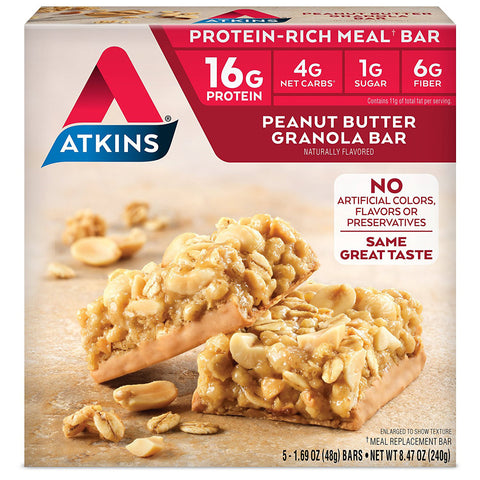 ATKINS - Advantage Peanut Butter Granola Bars